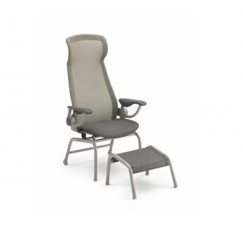 Cente Patient Chair with footstool.