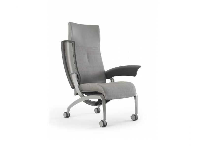 Nala Patient Chair with tilt up arm for easy access.