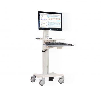 Healthcare workstation on wheels.
