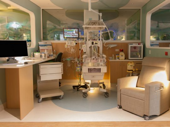 NICU. Consoul Recliner and AIO Computer.