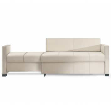 Sleep settee, extendable settee left or right, comfortable, integrated storage