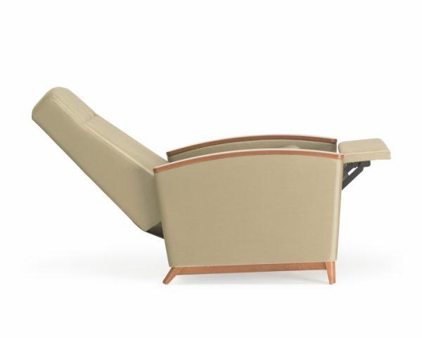 Nemschoff Horizon healthcare recliner in lean back position