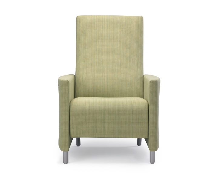 Nemschoff Pamona Recliner front view with healthcare fabric