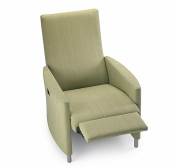 A healthcare recliner with style and functionality.