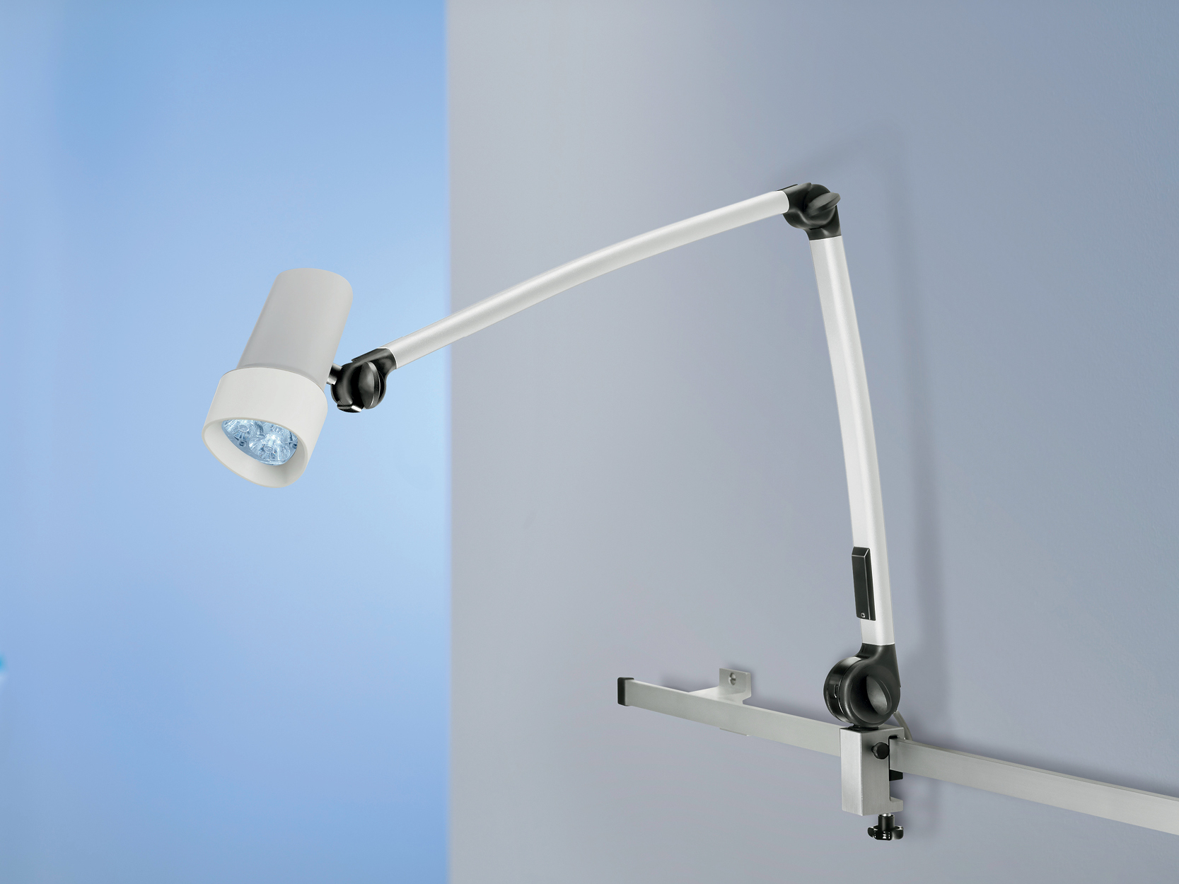 Derungs Halux N30 spring arm rail mounted