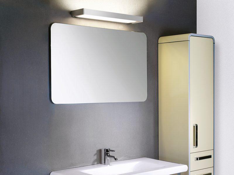 Stylish Derungs Vanera Bath light mounted in a bathroom
