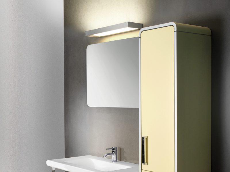 Derungs Vanera Bath light mounted above a mirror