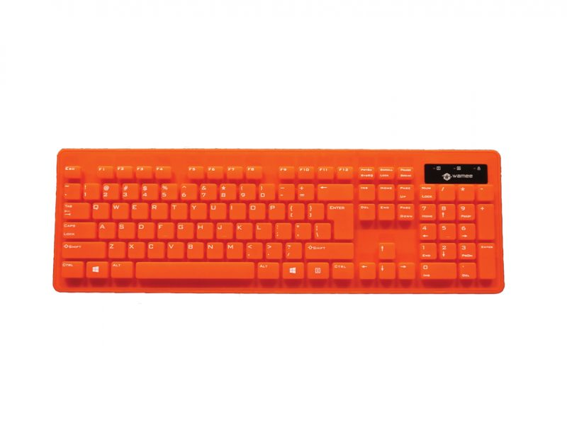 Wamee red keyboard rated IP68
