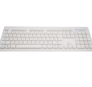 Wamee white keyboard rated IP68