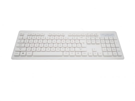Wamee white keyboard rated IP68