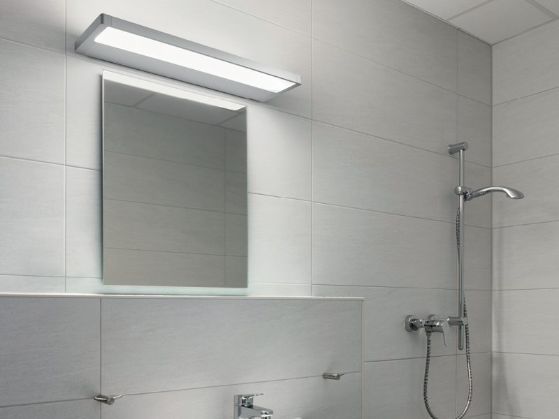 Derungs Zera Bath mounted above a mirror in an aged care bathroom