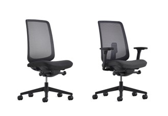 Verus Ergonomic Task Chair with Shale Interweave 2 Suspension Mesh With and Without Arms for hospital, Medical centre, healthcare and aged care administration