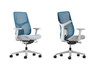 Verus Ergonomic Task Chair with Blue Grotto TriFlex and Arms - 2 Pic
