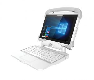 301MD medical, rugged tablet with detachable keyboard