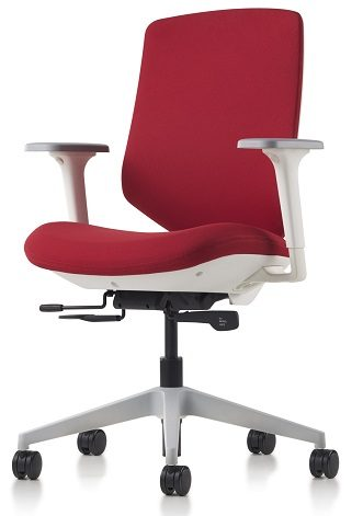 Herman Miller Express 2 Ergonomic Task Chair showing a side view of the passive sacral support for hospital administration users