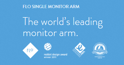 Flo the worlds leading monitor arm