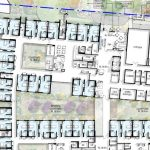 A floor plan of a Residential Aged Care development where there will be HPA Derungs VTL Circadian Lighting installed