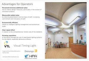 Info graphic explaining the benefits for operators of the HPA Derungs VTL Circadian Lighting system