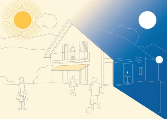 Graphic for Aged Care lighting design incorporating Circadian Lighting and Visual Timing Light