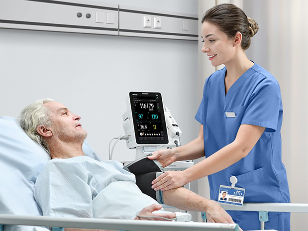VS 9 Vital Signs Monitor Patient and nurse